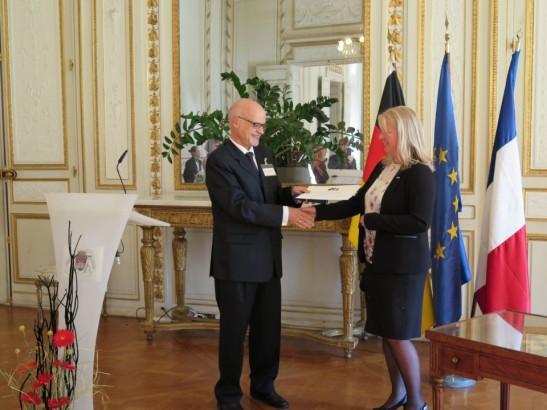 Remise du prix de l'amitié franco-allemande le 8 octobre 2015 à Bordeaux